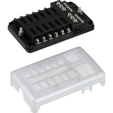 Sea-Dog Blade Style LED Indicator Fuse Block w/Negative Bus Bar - 12 Circuit