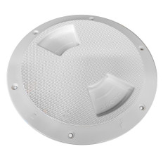 "Sea-Dog Quarter-Turn Textured Deck Plate w/Internal Collar - White - 5"""