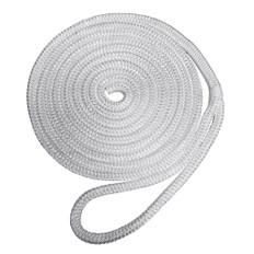 "Robline Premium Nylon Double Braid Dock Line - 1/2"" x 15' - White"