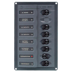 BEP AC Circuit Breaker Panel w/o Meters, 6 Way w/Double Pole Mains