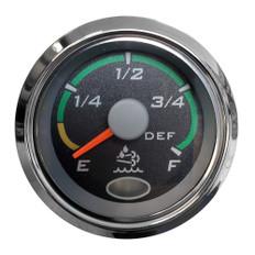 """Faria 2"""" Fuel Level Gauge Euro Black w/Stainless Steel Bezel"""