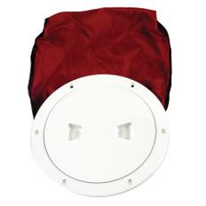 "Beckson 6"" Stow-Away Deck Plate - White w/12"" Bag"