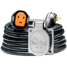 SmartPlug RV Kit 30 Amp 30' Dual Configuration Cordset - Black (SPX X Park Power) & Stainless Steel Inlet