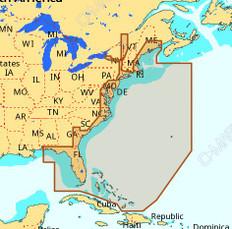 C-map Na-m022 Max Wide C Card East Coast And Bahamas - CMAMNAM022CC