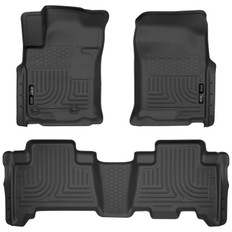 10 4RUNNER/GX460 FRONT/2ND WEATHERBEATER LINERS 2010 TOYOTA 4RUNNER & 2010 LEXUS GX460 FRONT & SECOND SEAT CUSTOM MOLDED WEATHERBEATERS FLOOR LINERS - BLACK