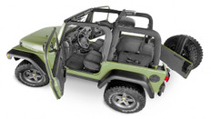 JEEP BEDTRED 18+ JL 4 DOOR BEDTRED 4 PC REAR KIT WITHOUT GAP HIDER