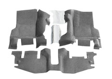 BedTred Floor Kit; 3 pc.; 2 pc. Front; 1 pc. Rear; Replaces Factory Carpet Kit; w/Center Console; Incl. Heat Shields;