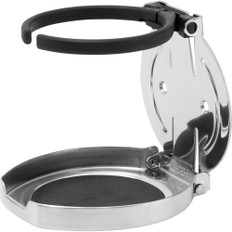 Sea-Dog Adjustable Folding Drink Holder - 304 Stainless Steel