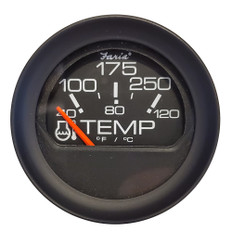 "Faria 2"" Water Temperature Gauge 100-200F - Black Bezel w/Orange Pointer"
