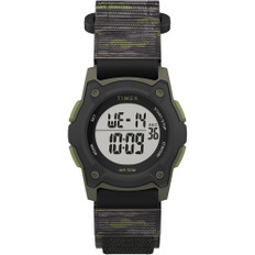 Timex Kid's Digital 35mm Watch - Green Camo w/Fastwrap Strap