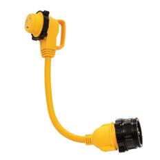 "Camco 30 Amp Power Grip Marine 18"" Dogbone - M-Lock/90F-Locking Adapter"
