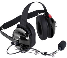 Behind The Head Headset With Ptt Boom Mic
