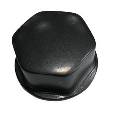 """Schmitt & Ongaro Faux Center Nut Black w/1/2"""" & 5/8"""" M12 Base f/Cast Steering Wheels"""