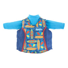 Puddle Jumper Kids 2-in-1 Life Jacket & Rash Guard - Surfboards - 33-55lbs