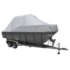 Carver Performance Poly-Guard Specialty Boat Cover f/20.5' Walk Around Cuddy & Center Console Boats - Grey