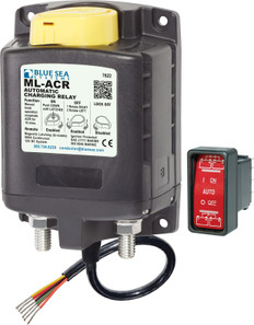 Blue Sea Ml-acr Automatic Charging Relay With Manual Control 12vdc 500a