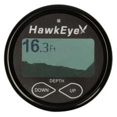 HawkEye DepthTrax 2BX In-Dash Digital Depth & Temp Gauge - Transom Mount - 600'