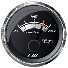 """Faria Platinum 2"""" Oil Pressure Gauge - 80 PSI"""