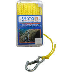 """Sea-Dog Poly Pro Anchor Line w/Snap - 1/4"""" x 50' - Yellow"""