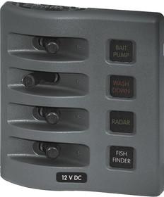 Blue Sea Weather Deck Panel 12v 4 Gang Fuse Panel