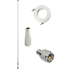 Glomex 4' Glomeasy VHF Antenna 3dB w/FME Termination, 6M Coaxial Cable, RA300 Adapter & PL259 Connector