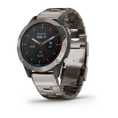Garmin Quatix 6 Titanium Marine Gps Smartwatch Gray With Titanium Band