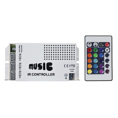 HEISE Sound Activated RGB Controller w/IR Remote