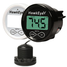 Hawkeye Depth Trax 2BX Dash Digital Depth & Temp Gauge - Thru-Hull