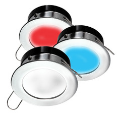 i2Systems Apeiron A1120 Spring Mount Light - Round - Red, Cool White & Blue - Brushed Nickel