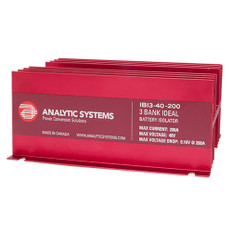 Analytic Systems 200A, 40V 3-Bank Ideal Battery Isolator