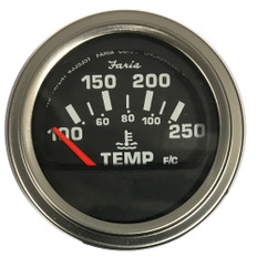"Faria Heavy Duty - 2"" Water Temperature Gauge (100 to 250F)"