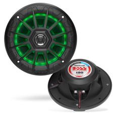 "Boss Audio MRGB55B 5.25"" Marine Speakers w/RGB Lighting - Black"