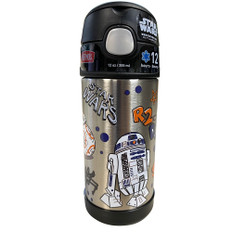 Thermos FUNtainer Stainless Steel Insulated Star Wars Water Bottle w/Straw - 12oz