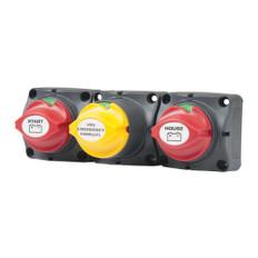 BEP Battery Distribution Cluster f/Single Engine w/Two Battery Banks    w/Motorized VSR