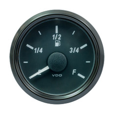 "VDO SingleViu 52mm (2-1/16"") Fuel Level Gauge - E/F Scale - 0-90 Ohm"