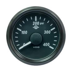 "VDO SingleViu 52mm (2-1/16"") Oil Pressure Gauge - 400 PSI - 0-180 Ohm"