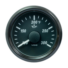 "VDO SingleViu 52mm (2-1/16"") Oil Temp. Gauge - 300 F - 322-18 Ohm"