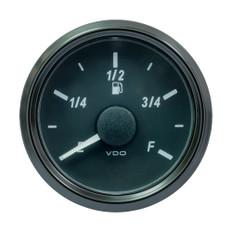"""VDO SingleViu 52MM (2-1/16"""") Fuel Level Gauge - E/F Scale - 90-5 Ohm"""