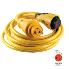Marinco CS30-50 EEL 30A 125V Shore Power Cordset - 50' - Yellow