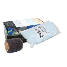 """KiwiGrip 1 Liter Pouch - Blue w/4"""" Roller"""