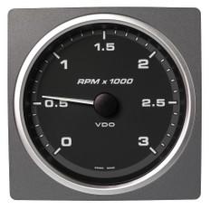 "VDO Marine 4-3/8"" (110mm) AcquaLink Tachometer 3000 RPM - 12/24V - Black Dial & Bezel"