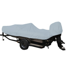 Carver Performance Poly-Guard Styled-to-Fit Boat Cover f/19.5' Fish & Ski Style Boats w/Walk-Thru Windshield - Grey