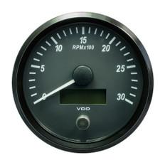 "VDO SingleViu 100mm (4"") Tachometer - 3000 RPM"