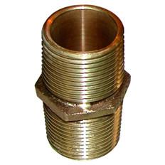 "GROCO Bronze Pipe Nipple - 2-1/2"" NPT"