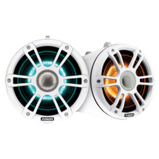"FUSION SG-FLT772SPW 7.7"" Wake Tower Speakers w/CRGBW LED Lighting - White"