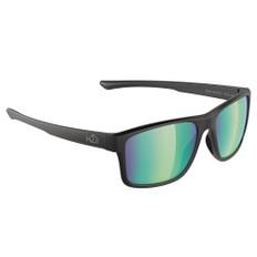 H2Optix Coronado Sunglasses Matt Black, Brown Green Flash Mirror Lens Cat. 3 - AR Coating