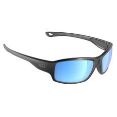 H2Optix Beachwalker Sunglasses Matt Gun Metal, Grey Blue Flash Mirror Lens Cat. 3 - AR Coating