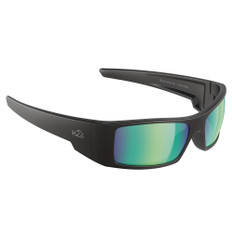 H2Optix Waders Sunglasses Matt Black, Brown Green Flash Mirror Lens Cat.3 - AntiSalt Coating w/Floatable Cord