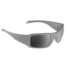 H2Optix Stream Sunglasses Matt Grey, Grey Silver Flash Mirror Lens Cat.3 - AntiSalt Coating w/Floatable Cord