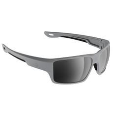 H2Optix Ashore Sunglasses Matt Grey, Grey Silver Flash Mirror Lens Cat. 3 - AntiSalt Coating w/Floatable Cord